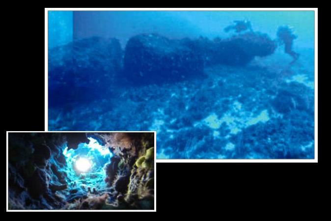 قطعه سنگ پیداشده در اعماق منطقهای بین سواحل سیسیل و تونس، شامل نمای نزدیکی از یک حفره در قطعه سنگ