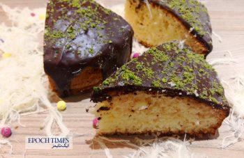 طرز تهیه کیک نارگیلی با روکش شکلات