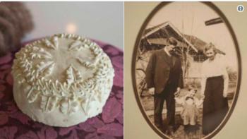 کیک عروسی صد سالهای که سالم یافت شد