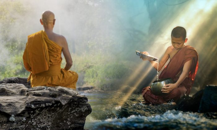 راهب، تزکیه، معبد