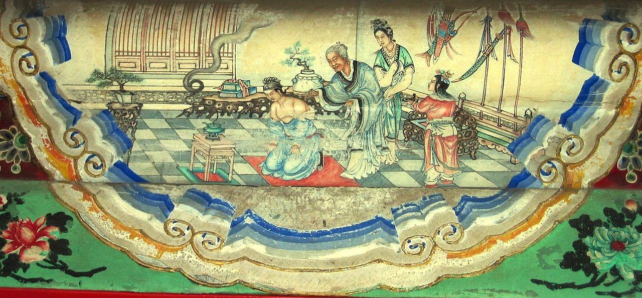 داستان ژنرال وفادار یوئه فِی میهنپرستی در چین باستان مفهوم اخلاقیِ عمیقی را منتقل میکرد از امپراتوران گرفته تا شهروندان عادی، بر تزکیه شخصی تأکید داشتند