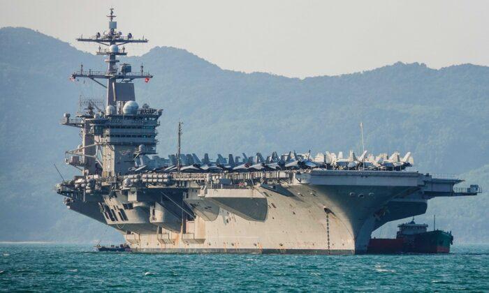 ناو هواپیمابر USS Carl Vinson در سواحل ویتنام. مارس ۲۰۱۸ (Getty Images/Getty Images)