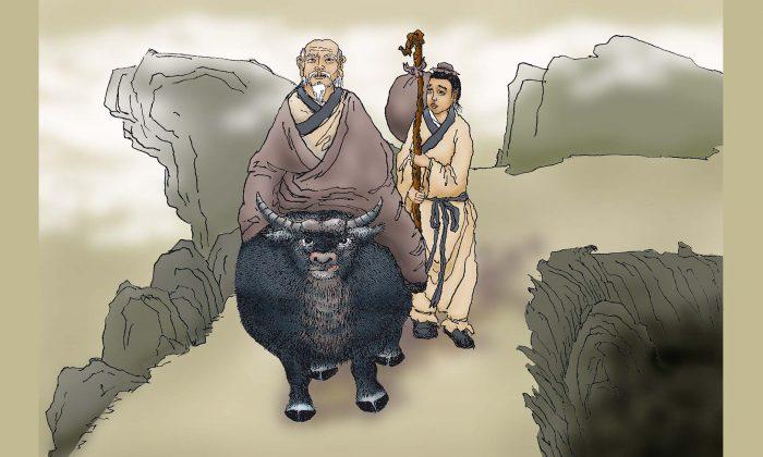 داستان خدمتکار لائوتسه خدمتکاری داشت به نام شو جیا، که بیش از دویست سال به او خدمت کرده بود اما شو جیا راضی نبود. او هر روز انتظار می کشید