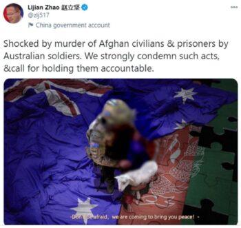 استرالیا دولت کانادا چین را برای انتشار تصویر دستکاریشده یک سرباز استرالیایی محکوم کرده و با واکنشهای بینالمللی در این مسئله هم صدا شده