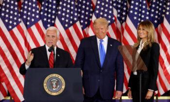 پنس مایک پنس در سخنرانی روز دوشنبه (۴ ژانویه) خود به چالشهای انتخاباتی آینده در ۶ ژانویه اشاره کرد و گفت که آن روز، روز موفقیت رئیس جمهور