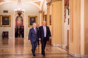 مبارزه ترامپ خطاب به میچ مک کانل: «خیلی زود است که در مبارزه انتخاباتی تسلیم شوم» رئیس جمهور دونالد ترامپ روز چهارشنبه خطاب به او گفت خیلی