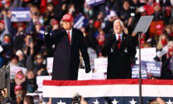 نتایج آرای الکترال ایالتهای دونالد ترامپ، رئیس جمهور آمریكا، مایك پنس را دعوت كرد تا نتایج آرای الکترال ایالتهای میدان نبرد را در جلسه مشترک