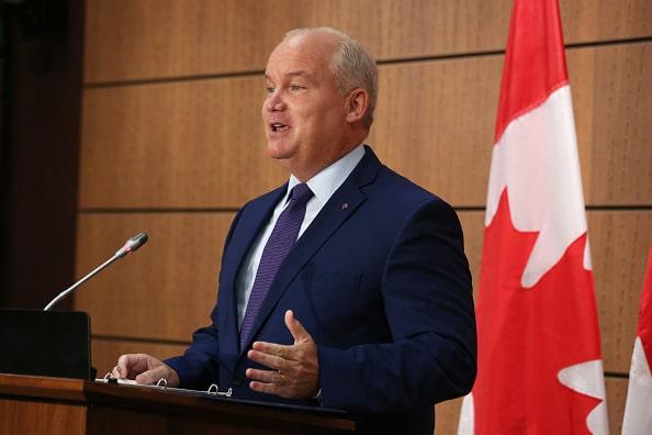 ارین اوتول، رهبر حزب محافظه کار کانادا (Photo by DAVE CHAN/AFP via Getty Images)