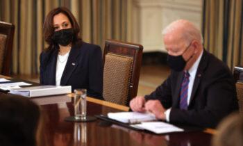 بایدن-هریس در زمان ریاست جمهوری دونالد ترامپ، صفحهای با عنوان «کابینه ریاست جمهوری» وجود داشت که شامل تصاویری از دونالد ترامپ و همسرش