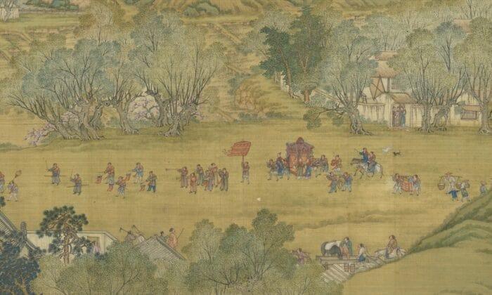 درزمان چینگ مینگ در کنار رودخانه عروس و داماد همدیگر را ملاقات میکنند(Courtesy of the National Palace Museum)