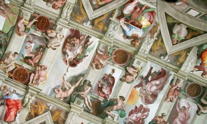 نقاشی سقف کلیسای سیستین برای امتحان کردن میکل آنژ بود (Public Domain)