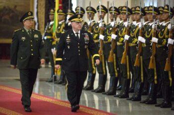 ژنرال در گزارشات متعددی به استناد منابع ناشناس آمده است که میلی یک بار در سال ۲۰۲۰ و یک بار دیگر در ماه ژانویه با ژنرال لی زوچنگ از ارتش